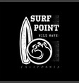 a set of surfing for printing wild wave logo vector image