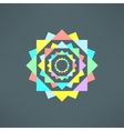 abstract geometric mandala in modern flat vector image vector image