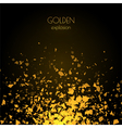 Abstract golden background with explosion vector image