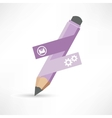 abstraction pencil icon vector image