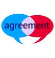 Agreement Speech Bubble vector image vector image