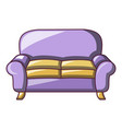 armchair sofa icon cartoon style vector image