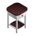 bedside table icon isometric style vector image vector image