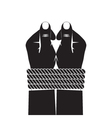 Black silhouette of the hands tied by a rope vector image vector image
