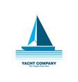 blue yacht logo vector image
