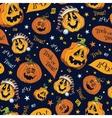 Boo Pumpkins Halloween Seamless Pattern vector image