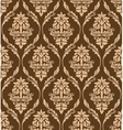 Brown floral seamless pattern vector image vector image