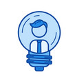 business founder line icon vector image vector image