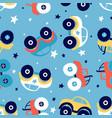 car seamless pattern print design vector image vector image