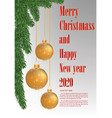 christmas and new year party flyer banner 2020 vector image vector image