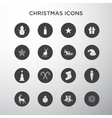Christmas icons in circles vector image vector image