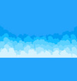 cloud flat background cartoon blue sky pattern vector image vector image