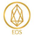 crypto coin eos icon on white vector image