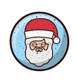crystal sphere with face santa claus vector image vector image