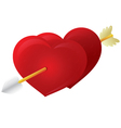 Cupid Arrow Heart vector image