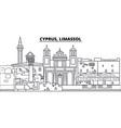 cyprus limassol line skyline vector image vector image