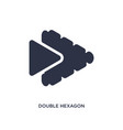 double hexagon small triangles icon on white vector image vector image