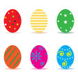 easter egg icon isolated on white background vector image vector image