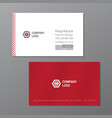 elegant name card template red and white name vector image
