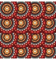 Ethnic boho floral rosettes seamless pattern vector image vector image