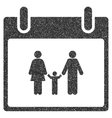 Family Calendar Day Grainy Texture Icon vector image vector image