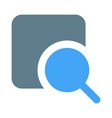 find and lookup on internet with magnifying glass vector image vector image