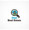Find real estate vector image vector image
