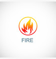 fire icon logo vector image vector image