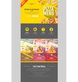 Flat style pizza menu concept Web site design vector image vector image