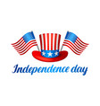 fourth of july independence day banner american vector image