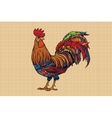 Gallic rooster farm bird 2017 symbol vector image