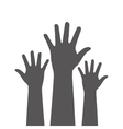 Hands up icon design vector image vector image