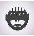 happy boy icon vector image
