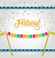 happy festival card vector image