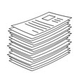 heap stack of paper document file web icon symbol vector image vector image