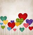 Hearts multicolored vector image vector image