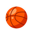 icon red basketball ball in flat style vector image vector image
