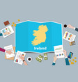 ireland economy country growth nation team vector image vector image