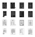 isolated object of form and document logo set of vector image vector image