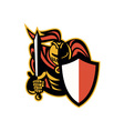 Knight With Sword And Shield Retro vector image