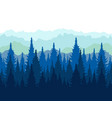 landscape tops conifers paper forest in vector image vector image