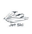 logo jet ski scooter vector image vector image