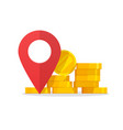 money place pointer marker as cash atm or bank vector image vector image