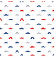 mustache seamless pattern november holiday vector image vector image