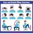 Office syndrome health care concept vector image vector image