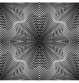 Ornate monochrome abstract background with black vector image vector image