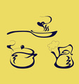 pan kettle and pot vector image vector image