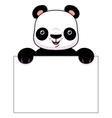 Panda banner vector image vector image
