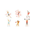 people doing different kind sports set vector image vector image