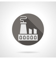 Power plant round flat icon vector image vector image